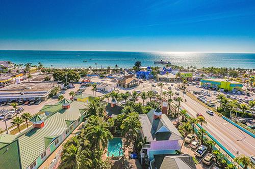 Aerial Toward Beach