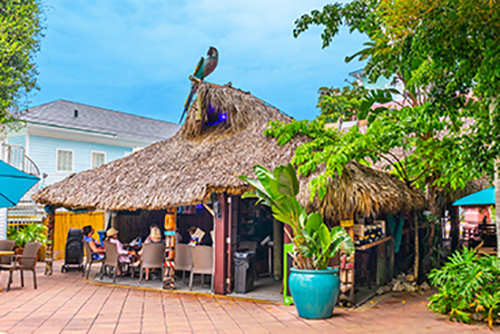 Tiki Bar Exterior Poolside