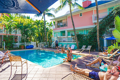 Tiki Bar Poolside